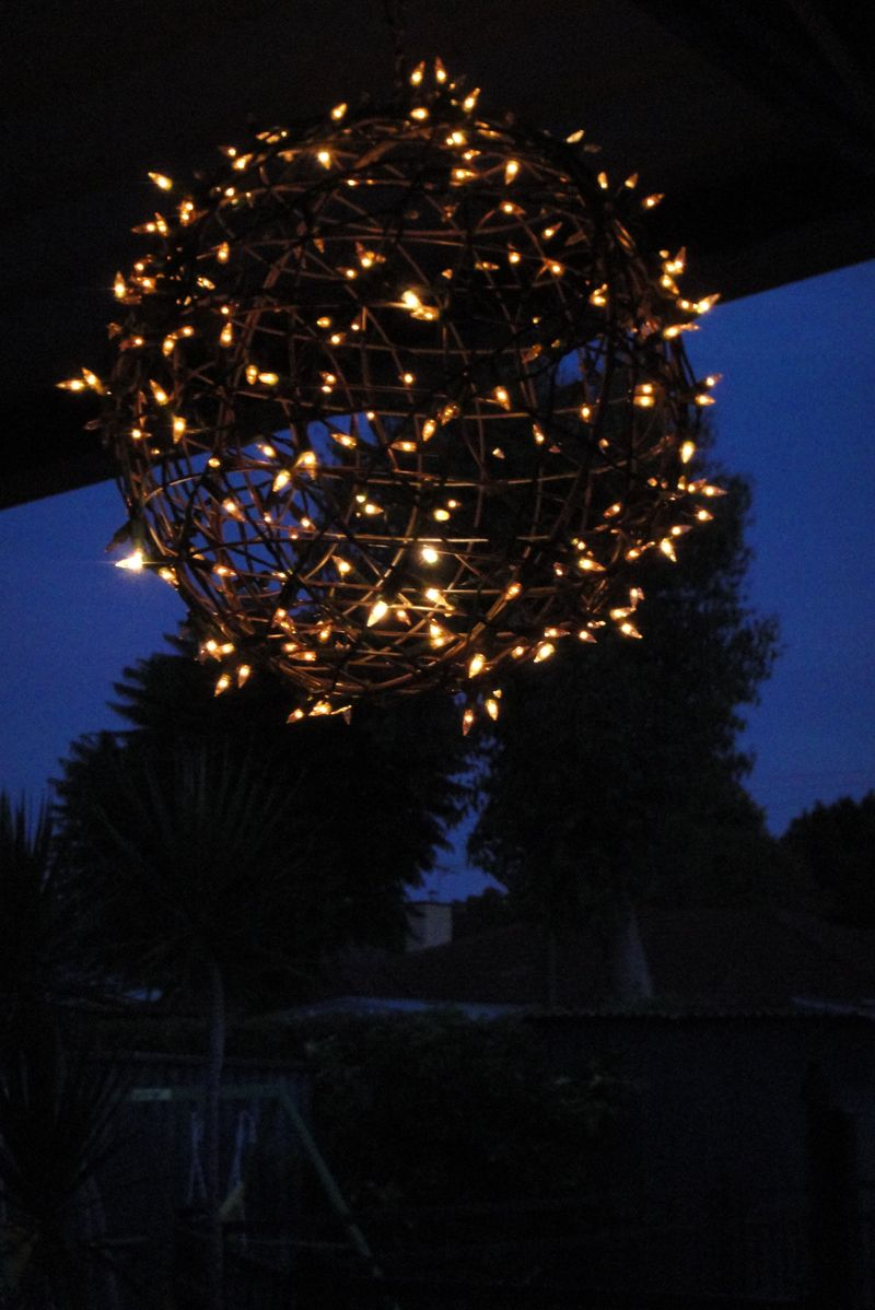 Fairy Light Globe | Breathtakingly Rustic Homemade Christmas Decorations